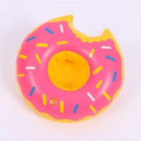 Inflatable Drink Cup Holder Colorful Cup Mat Donut Flamingo Watermelon Lemon Shaped Pvc Swimming Pool Floating Ma qylGtg packing 1423 V2