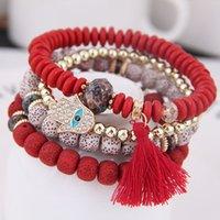 2021 Hot Fashion Ocean Style Multcolor Bracelet Sets Bohemian beaded bracelet Jewelry For women 800 Q2