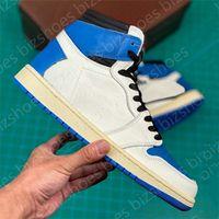 1 High SP Military Blue Damen Schuhe Weiß Outdoor Trainer Turnschuhe Fragment Designer Basketballschuh