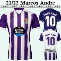 2021 2022 Real Valladolid Nacho Marcos Andre Fútbol Jerseys de fútbol Fútbol Alojamiento Mensaje corto Púrpura Blanco Uniformes