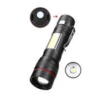 Tocha zoomable poderosa lâmpada de luz USB recarregável para lanterna exterior 40Jun11 lanternas tochas