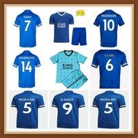 태국 축구 유니폼 20 22 축구 셔츠 도시 톱 2021 2022 Vardy Ayoze Camiseta Ndidi Maddison Leicester Maillot 드 발복 남성 + 키트 키트
