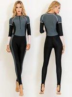 Гидрокостный солнцезащитный крем с длинным рукавом Купальник для подводного плавания костюм 2021 Япония Южная похудение Консервативное Koarh Женские женщины Sbart цельные костюмы