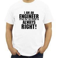 Men's T-Shirts I AM AN ENGINEER Printed Letter Summer 2021 Short Sleeve Modal T Shirt Men Harajuku Jersey T-shirt Streetwear