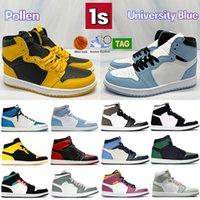 Высокий 1 1S Университет Синий Мужская Баскетбольная Обувь UNC Plielen Патент на Plielen Compred Hyper Royal Shadow Темные Mocha Голландские Зеленые Твист Женщины Мужчины Кроссовки
