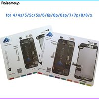 Stuoia a vite magnetica per 6 6S 7 Plus 7p 8 Guida al lavoro Pad Pad Professionale Piastra Strumenti di riparazione della piastra X XS XS Max Chart Telefono cellulare Riparazione