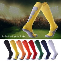 Adult Professional Soccer Socks Football Club Breathable Knee High Training Long Stocking Block printing Sports Sock