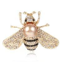 Drôle Petite Bee Broche Femelle Perle Cardigan Cardigan Suit Broches Pin Collonne Accessoires Cadeau