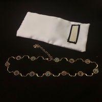 Collier en laiton de haute qualité Bracelet EnMamel pour collier féminin Bracelet de tigre rétro Bijoux Collier Fashion Tendance de la mode