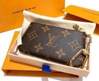 Кошелек ключ чехол M62650 Pochette CLES дизайнер мода женские мужские кольца держатель кредитной карты монет кошелек мини-кошельки сумка шарм Pochettes аксессуары