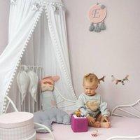 아기 돔 침대 맨틀 단단한 침대 그물 그물 도어 유형 모양 성 모피 브래킷 강선 보호 편안한 통기성 귀여운 양모 볼 원형