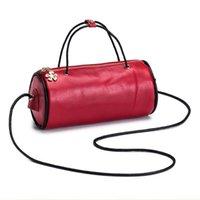 حقائب الكتف تصميم المرأة نانو حقيبة الأزياء أسطواني جلد طبيعي مصغرة حقيبة الهاتف المحمول محفظة طويلة