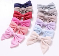 Children's hair accessories cotton linen cloth art girls 12-color bag waist bow hairpin a word clip 20pcs