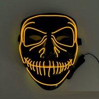 Halloween Glowing mask party dance halloween ghost festival horror scream glow