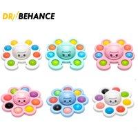 2021 Giocattolo Original Fidget Divertente Rainbow Ruota i giocattoli di decompressione del silicone dell'espressione di granchio