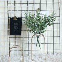 Decorative Flowers & Wreaths Artificial Fake Silk Eucalyptus Green Plant Wedding Home Garden Decor Gift Scrapbooking Craft Plants Flower