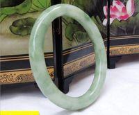 56-62mm Natural Fine Flututing Flor Handmade Jade Pulseira Livre Navio Ping A991