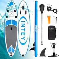 10ft Surfboard Sup Stand up paddle bräda 6 tum tjock uppblåsbar med luft pumpbag vatten sport