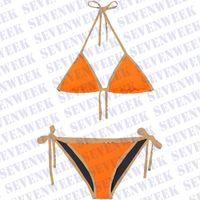 Femmes Sexy Bikinis Ensembles de maillots de bain Sous-vêtements Plaid imprimé Summer Beach Swim Maillot de bain Femmes One Piece Maillot de bain