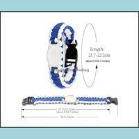 And Hiking & Outdoorsmix Styles Football Paracord Survival Bracelets Custom Made Cam Sports Ncaa College Charm Team Umbrella Bracelet Drop D