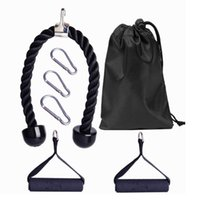 Accessories 7 PCS Tricep Rope Pull Down Set 2 Exercise Handles 3 Carabiner Clips Cable Attachment For Gym