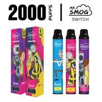 Оригинальные R и M одноразовые сигареты Vape Pen 8ML PODS 2200Уфуфты Пустые электронные сигары Большой пар VS Posh Plus Bang XXL-устройство
