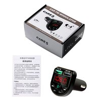 Bluetooth Car Kit Mp3 Bluetooth-compatible 5.0 Handsfree Phone Player Music Card Audio Receiver Fm Transmitter Dual USB Fast Charger 3.1A