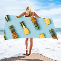Baño de playa de piña de toalla, secado rápido, impreso, natación, suave, gota de microfibra