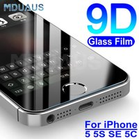 9D Tempered Glass on the For Apple iPhone 5S 5 SE 5C 4 4S Screen Protector 9H Anti-Burst Protective Film