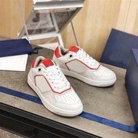 حديثا مصمم B27 أحذية الرجال النساء المنخفضة أعلى أحذية رياضية رجل المدربين B24 جلد سلس الأحمر المائل الفاخرة المطبوعة عارضة سكيت الحذاء chaussures