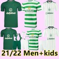 21 22 Jerseys de futebol celta Away 3rd Edouard Brown Duffy Taylor Christie Camisa de futebol Men + Kit kit kit uniformes de meias