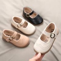 Girls' single 2021 spring new Korean children's soft sole Doudou Velcro little girl princess shoes