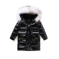 Children Down Coat Kids Winter Outwear Teenage Girls Clothes Boys Clothing Childrens Jacket Long Fur collar Hooded Coats Warm Washing-free B8420