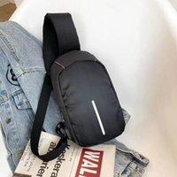 Men's Waterproof Handbag USB Oxford Crossbody Bag Anti-theft Shoulder Sling Bags Multifunction Short Travel Messenger Chest Pack For Male