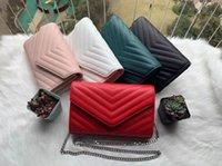 حقيبة يد جلدية حقيقية يأتي مع صندوق سلسلة حقيبة النساء الأقراص الصفراء مصممي الأزياء حقائب الإناث مخلب الكلاسيكية عالية الجودة فتاة حقائب اليد # 5
