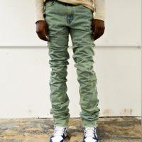 Toptan Yığılmış Kot Erkek Pantolon 2021 Moda Denim Yüksek Kalite Vintage Tasarım Özel Sıska Fit Jeans Erkekler için