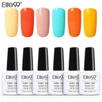 Nail Art Kitleri Elite99 10 ml Floresan Macaron Jel 6 Adet / set Vernis UV Vernik Soak Off Nails Polonya Lake