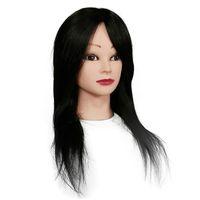"""Mannequin Poupée 100% Cheveux humains Head 14 """"-18"""" Longueur pour le coiffeur pratiquant"""