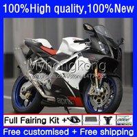 Résier à motards pour Aprilia RSV 1000 R 1000R RSV1000R Mille Gloss White RV60 Cowling 9no.11 RSV-1000 RSV1000 R RR 03 04 05 06 RSV1000RR 2003 2004 Kit de corps 2006 2006