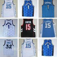 NCAA Best Quality College North Carolina Men Jerseys University Carter Jersey Tracy 1 McGrady Jerseys Penny 1 Haraway Vince 15 Carter Shirt
