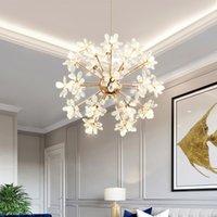 İskandinav karahindiba avize aydınlatma postmodern led kristal lamba modern oturma odası kristal avize yemek odası yatak odası otel kulübü dekoratif kolye lambaları