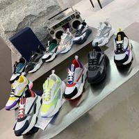 Tasarımcılar B22 B23 Rahat Ayakkabılar Erkekler Kadınlar Tuval Buzağı Sneakers Obliques Beyaz Teknik Örgü Retro Patchwork Trainers Platform Ayakkabı