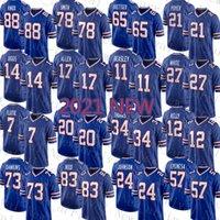 Yeni Buffalo Erkek Bill Amerikan Futbol Forması Kadınlar 17 Josh Allen Youth 14 Stefon Diggs 11 Cole Beasley 27 Tre'davious Beyaz 78 Bruce Smith 65 Ike Boettger Poinger