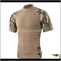 Roupas engrenagem gota entrega 2021 homens verão ao ar livre caminhadas camping exército tático esporte verde t tees camuflagem camuflagem c8nsl