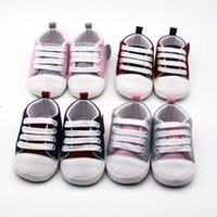 First Walkers Toddler Shoes Baby Boys Girls Soft Sole Sneakers Anti-Slip Outdoor Casual Canvas