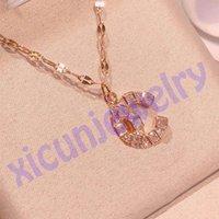Topu C harfi kolye olarak açın Moda zincirleri kristal tork elmas kolye kolye kadınlar inci takı hediye