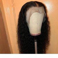 Deep Curly Frontal Spitze Perücken mit Babyhaare Prepucked Full Spitze Menschenhaarperücken Für Schwarze Frauen Kinkys Curly 360 Perücken