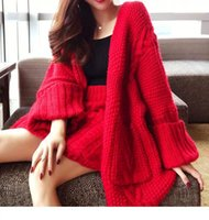 Women's Tracksuits Womens Open Up Red Midi Wear To Work Dress + Sexy High Waist Skirts Two Pieces Set