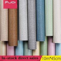 Adesivos de parede Padrão de linho espessura PVC PVC auto-adesivo papel de parede instantâneo adesivo quarto de sala de estar tamanho tamanho 10m * 45cm