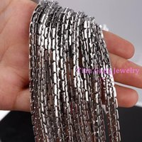 1 5 10meter Charming 4mm 100% Stainless Steel Shiny Chain Necklace DIY Jewelry Finding Chains
